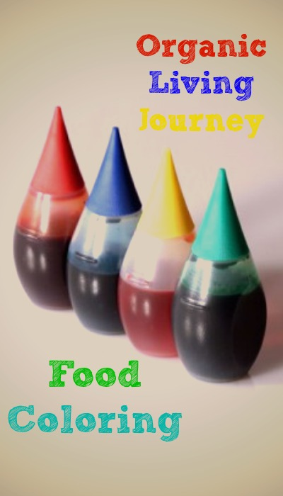 organic living journey tackes food coloring