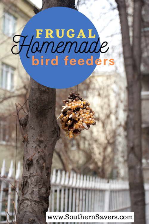 Don't spend your money on expensive bird feeders—you can make frugal homemade bird feeders for little to nothing, and best of all, it's a great kid project!