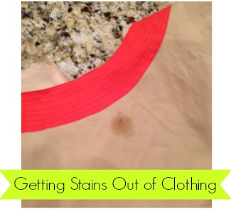 How to get oil stains out of clothing by only using what you'll find in the kitchen!