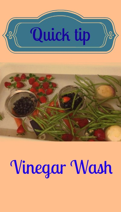 quick tip use vinegar to wash produce