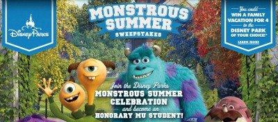 Disney Monstrous Summer Sweepstakes