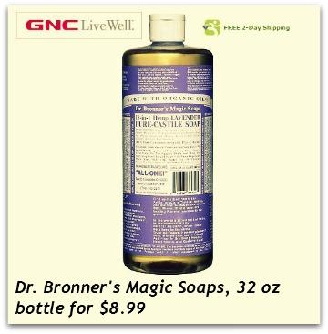 GNC Dr. Bronner's Soap