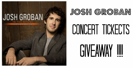 Josh Groban Concert Tickets Giveaway / / SouthernSavers.com