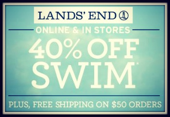 Land's End 40% Off Swimwear