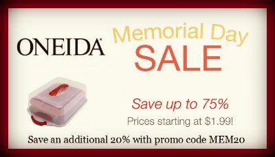 Oneida Coupon Code and Bakeware Sale