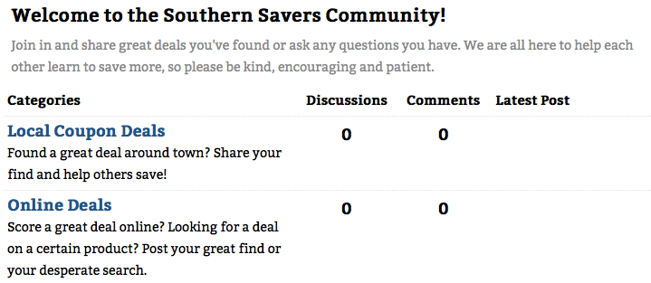 Southern Savers community