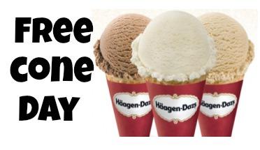 haagen daz free cone day