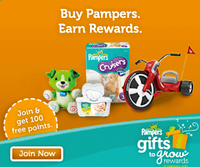 pampers gifts to grow code