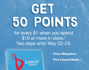 walgreens balance rewards deal
