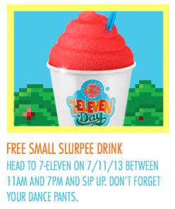 Free slurpee day 2013