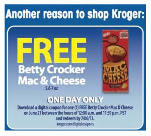 Kroger Free eCoupon