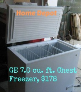 home depot freezer sale