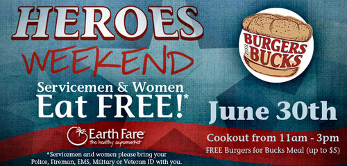 earth fare heroes weekend