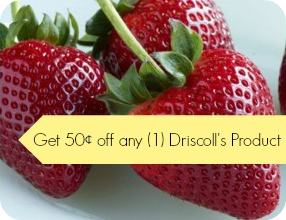 50¢ coupon off any one Driscoll's item. - Southern Savers