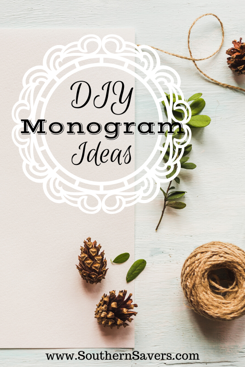 DIY monograms are a cheaper alternative than paying someone else to do them or buying them from a store. Check out these easy DIY monogram ideas!