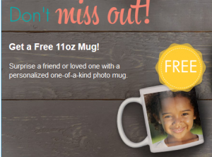 Free personalized photo mug
