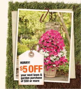 Home Depot Coupon $5 off $50