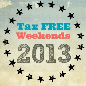 Tax Free Days 2013
