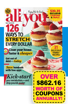 all you magazine subscription 1 per issue southern savers. Black Bedroom Furniture Sets. Home Design Ideas