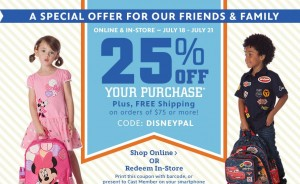 disney friends & family sale