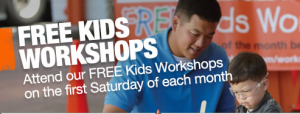 Home Depot Free Kids Workshop