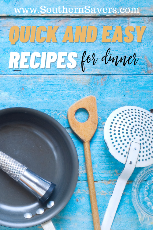When you're in a busy season of life, quick and easy recipes are your best friend. Here are five of my favorite to satisfy any frugal foodie!