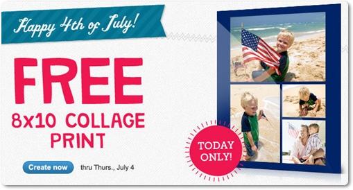 Walgreens Free 8x10 Photo Collage