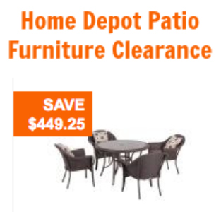 Home Depot Patio Furniture Clearance: 50-60% Off Hampton Bay Sets