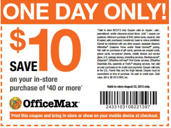 Officemax Coupon 10 Off 40
