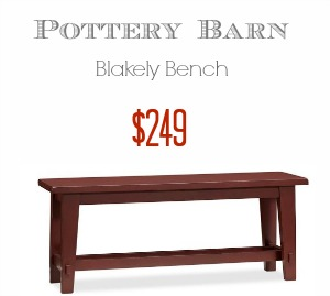 Pottery Barn Blakely Bench Look Alike - Southern Savers