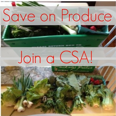 Save money on your produce by joining a CSA in your area. | Frugal Living