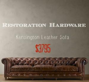 Restoration Hardware Kensington Sofa Look Alike - Southern Savers