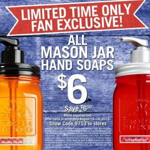 mason jar hand soap
