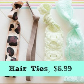 no snag hair ties