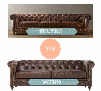 Restoration Hardware Look Alike Furntiture Kensington Leather