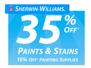 sherwin-williams weekend sale
