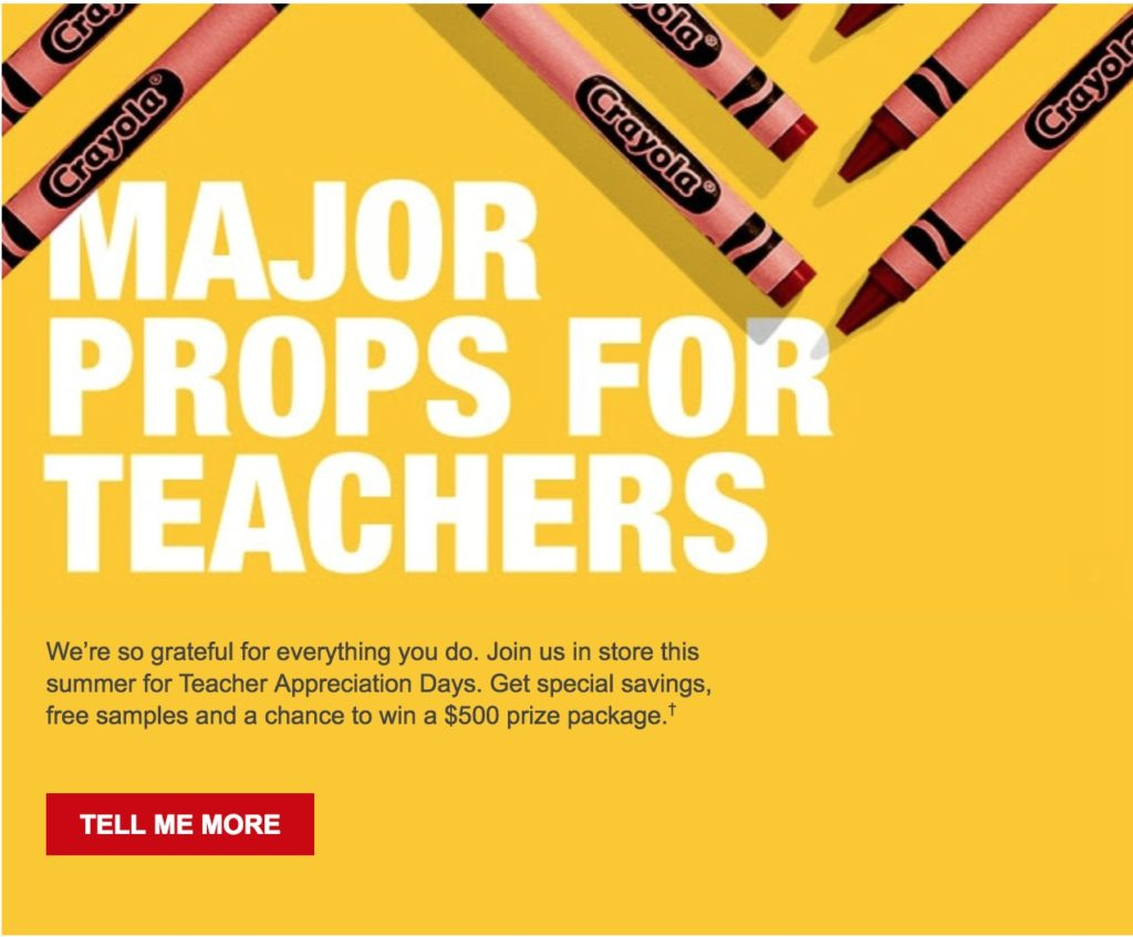 If You Are A Teacher Make Sure To Check Out The Appreciation Days At Staples These Events Include FREE Kit With Samples Freebies And