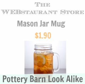 Pottery Barn Mason Jar Mug Look Alike - Southern Savers