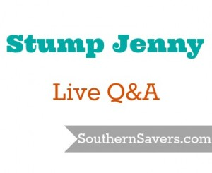 Stump Jenny or Southern Savers - Live Q&A