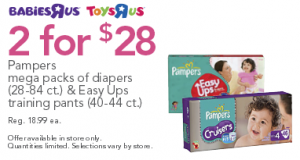 pampers diapers deal