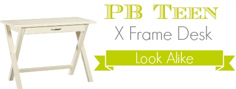 PB Teen X Frame Desk Look Alike - Southern Savers