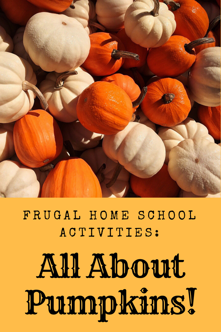 frugal home school activities pumpkin