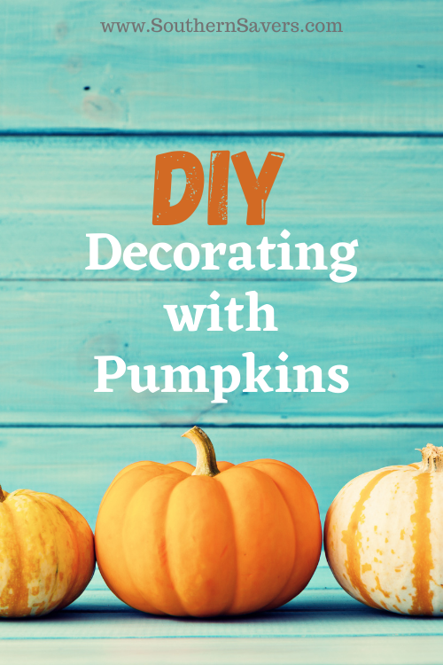 If you want your house to look like fall is finally here, why not try decorating with pumpkins? They are inexpensive and easy to use in home decor!