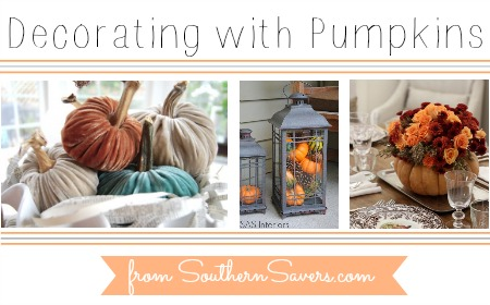DIY ideas to decorate your home with pumpkins.