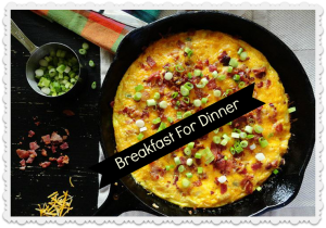 Breakfast is the most important meal of teh day, so why not try it for dinner..weight watchers style!