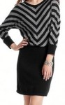 chevron stripe sweater dress