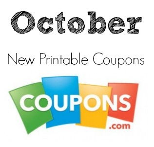 New October printable coupons from Coupons.com!