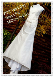 free wedding dress for military