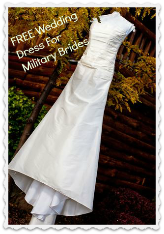 Free wedding dress reminder more freebies southern for Free wedding dresses for military brides