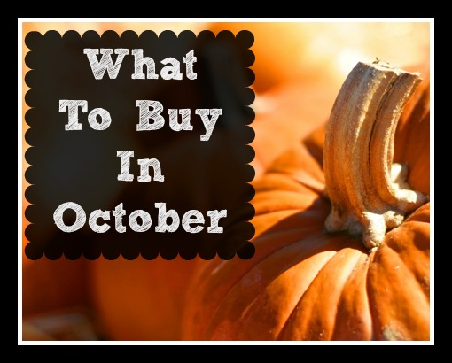 A complete guide on what to buy in October!